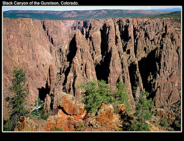 This time I photographed Black Canyon of the Gunnison National Park using a 4x5 inch view camera. Instead of cold and snowy, it was hot and breezy. Tough environment, that's what makes it fun.
