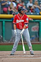 D.J. Peterson (11) of the Tacoma Rainiers at bat against the Salt Lake Bees in Pacific Coast League action at Smith's Ballpark on July 22, 2016 in Salt Lake City, Utah. The Rainiers defeated the Bees 8-3. (Stephen Smith/Four Seam Images)