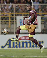 BOGOTÁ -COLOMBIA, 27-05-2015. John Valencia jugador del Tolima en acción durante el partido de ida de semifinal entre Deportes Tolima e Independiente Medellín de la Liga Águila I 2015 jugado en el estadio Metropolitano de Techo en Bogotá./ John Valencia player of Tolima in action during the semifinal first leg match between Deportes Tolima and Independiente Medellin of the Aguila League I 2015 played at Metropolitano de Techo stadium in Bogota city. Photo: VizzorImage/ Gabriel Aponte / Staff
