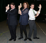 John Treacy Egan, Judy Gold and Kevin Zak during the 'Clinton The Musical' - Sneak Peek at Ripley Grier Studios on March 4, 2015 in New York City.