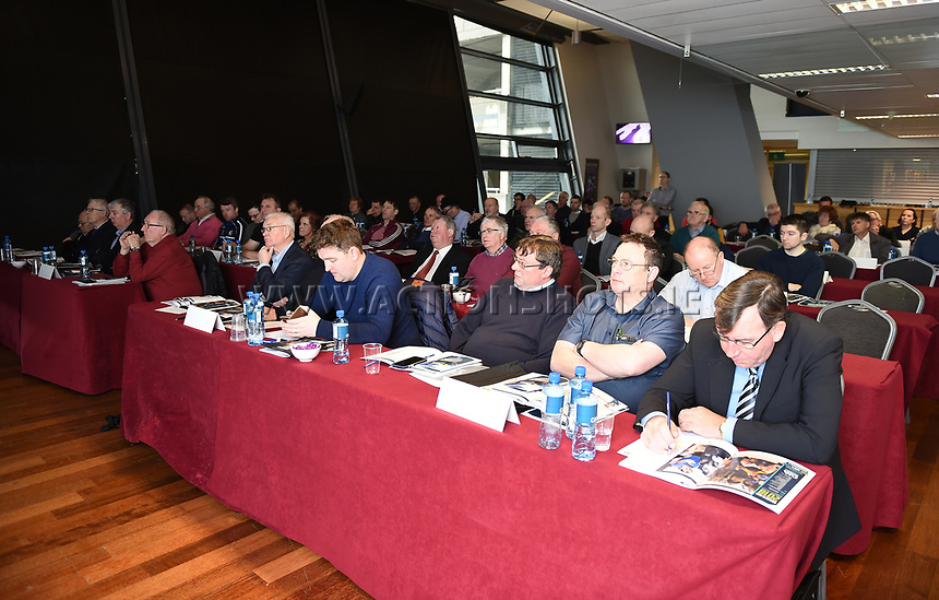 04/02/2018; GAA Handball Annual Congress 2018; Croke Park, Dublin;<br /> General view of congress in progress.<br /> Photo Credit: actionshots.ie/Tommy Grealy