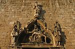 Rosace Renaissance sur la facade de l'église Saint Sauveur. Dubrovnik. Croatie. Dubrovnik. Croatia