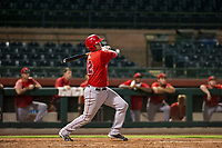 AZL Angels first baseman Dalton Blumenfeld (12) hits during a game against the AZL Giants on July 10, 2017 at Scottsdale Stadium in Scottsdale, Arizona. AZL Giants defeated the AZL Angels 3-2. (Zachary Lucy/Four Seam Images)