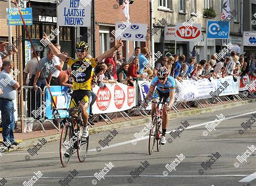 2008-08-10 / Ronde Van Antwerpen Elite zc.  in Brasschaat / Sven Vandousselaere won de rit..Foto: Maarten Straetemans (SMB)