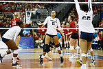 KANSAS CITY, KS - DECEMBER 14: Haleigh Washington #15 of Penn State University celebrates a point against the University of Nebraska during the Division I Women's Volleyball Semifinals held at Sprint Center on December 14, 2017 in Kansas City, Missouri. (Photo by Tim Nwachukwu/NCAA Photos via Getty Images)