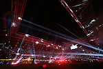 The pre-match show warms up the crowd and lights up the stadium.<br /> 2015 RBS 6 Nations<br /> Wales v England<br /> Millennium Stadium <br /> 06.02.15<br /> ©Steve Pope -SPORTINGWALES