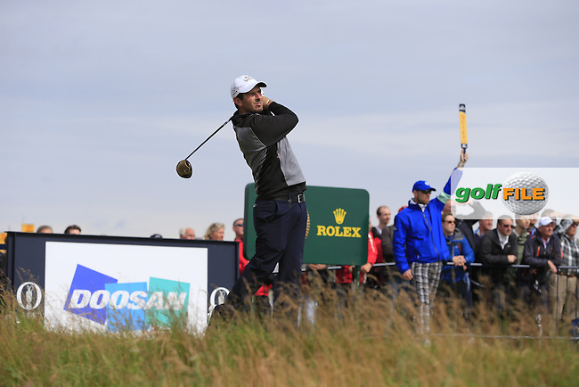 Thomas AIKEN (RSA) tees off the 17th tee during Monday's Final Round of the 144th Open Championship, St Andrews Old Course, St Andrews, Fife, Scotland. 20/07/2015.<br /> Picture Eoin Clarke, www.golffile.ie