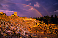 The Teatro Greco (Greek Theater) in the Parco Archeologico, Siracusa, Sicily, Italy