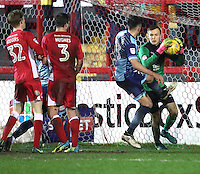Goalkeeper Marek Rodak of Accrington Stanley <br /> during the Sky Bet League 2 match between Accrington Stanley and Wycombe Wanderers at the wham stadium, Accrington, England on 28 February 2017. Photo by Tony  KIPAX.