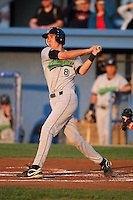 September 5, 2009:  Third Baseman Chase Austin of the Jamestown Jammers at bat during a game at Dwyer Stadium in Batavia, NY.  The Jammers are the NY-Penn League Short-Season Class-A affiliate of the Florida Marlins.  Photo By Mike Janes/Four Seam Images