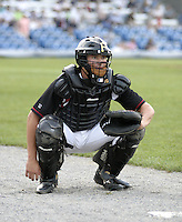 September 3, 2004:  Catcher Neil Walker of the Williamsport Crosscutters during a game at Bowman Field in Williamsport, PA.  Williamsport is the Short Season Single-A NY-Penn League affiliate of the Pittsburg Pirates.  Photo By Mike Janes/Four Seam Images