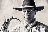 USA, Oregon, Enterprise, portrait of Cowboy Cody Ross at the Snyder Ranch located between Enterprise and Joseph in Northeast Oregon