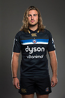 Max Clark poses for a photo during a Bath Rugby photoshoot on August 9, 2017 at Farleigh House in Bath, England. Photo by: Rogan Thomson for Onside Images