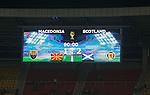 Full time scoreboard in Skopje