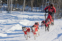 Musher Ken Chezik, 2007 Limited North American Championship Sled dog race in Fairbanks, Alaska.