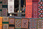 Rug seller, Paro Valley, Bhutan
