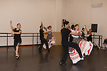 Folklorico dancers rehearsing for the LA County Holiday Show, Los Angeles, CA