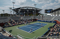 A general view of the Flushing Meadows the venue for the 2015 U.S. Open tennis tournament during the kids day New York City  08/29/2015. Kena Betancur/VIEWpress