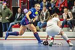 Charlotte Gerstenhoefer #28 of Mannheimer HC beim Spiel der Hockey Bundesliga Damen, TSV Mannheim (hell) - Mannheimer HC (dunkel).<br /> <br /> Foto © PIX-Sportfotos *** Foto ist honorarpflichtig! *** Auf Anfrage in hoeherer Qualitaet/Aufloesung. Belegexemplar erbeten. Veroeffentlichung ausschliesslich fuer journalistisch-publizistische Zwecke. For editorial use only.