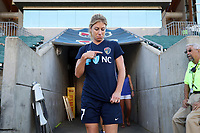 Cary, North Carolina  - Saturday August 05, 2017: McCall Zerboni prior to a regular season National Women's Soccer League (NWSL) match between the North Carolina Courage and the Seattle Reign FC at Sahlen's Stadium at WakeMed Soccer Park. The Courage won the game 1-0.