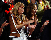 New York, NY - August 31, 2004 -- Jenna Bush, left, and Barbara Bush, right, twin daughters of United States President George W. Bush and first lady Laura Bush, applaud during the proceedings at the 2004 Republican Convention in Madison Square Garden in New York, New York on Tuesday, August 31, 2004..Credit: Ron Sachs / CNP.(RESTRICTION: No New York Metro or other Newspapers within a 75 mile radius of New York City)