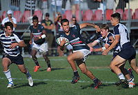 Palmerston North BHS v Feilding High School boys pool match. 2019 Sir Gordon Tietjens Sevens college rugby tournament at CET Arena in Palmerston North, New Zealand on Saturday, 2 March 2019. Photo: Dave Lintott / lintottphoto.co.nz