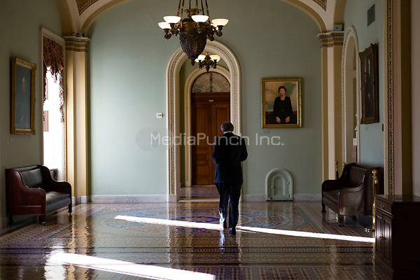 United States Senator Ed Markey (Democrat of Massachusetts) walks outside the US Senate Chamber in the US Capitol in Washington, DC on Friday, December 1, 2017. <br /> Credit: Alex Edelman / CNP /MediaPunch