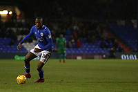 Oldham Athletic's Ousmane Fane during the Sky Bet League 1 match between Oldham Athletic and Rotherham United at Boundary Park, Oldham, England on 13 January 2018. Photo by Juel Miah / PRiME Media Images.