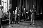 Darby and Joan Club, blind and partially sighted dance class for senior citizens at the Battersea Institute, South London 1970 UK.