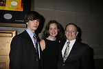 "As The World Turns Margaret Colin poses with husband Guiding Light's Justin Deas and son Joe at after party as she stars in ""Arcadia"" - Broadway Opening Night on March 17, 2011 at the Ethel Barrymore Theatre, New York City, New York.  Arrivals, Curtain Call and Party after at Gotham Hall. (Photo by Sue Coflin/Max Photos)"