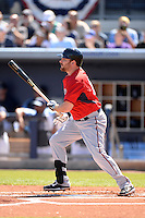 Outfielder Jason Kubel (13) of the Minnesota Twins during a spring training game against the Tampa Bay Rays on March 2, 2014 at Charlotte Sports Park in Port Charlotte, Florida.  Tampa Bay defeated Minnesota 6-3.  (Mike Janes/Four Seam Images)