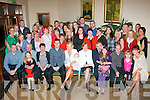 BABY JOY: Kevin Kelliher and Evlyn Fitzgerald, Strand Rd, Tralee (seated centre) who had their baby girl Ellie christened last Saturday afternoon in St John's Church, Castle St, Tralee by Fr Kieran O'Brien and celebrated after with family in the Kerin's O'Rahilly's GAA clubhouse.