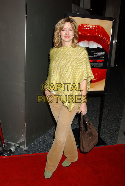 SHARON LAWRENCE.Special Screening of the new documentary Inside Deep Throat held at the Cinerama Dome. Hollywood, California..Photo Credit: Laura Farr/AdMedia.February 3rd, 2005.full length, brown cors corouray green knitted poncho shawl.www.capitalpictures.com.sales@capitalpictures.com.© Capital Pictures.