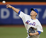 Daisuke Matsuzaka (Mets),<br /> APRIL 26, 2014 - MLB :<br /> Daisuke Matsuzaka of the New York Mets pitches during the Major League Baseball game against the Miami Marlins at Citi Field in Flushing, New York, United States. (Photo by AFLO)