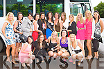 Bride to be Madeline Griffin Aghadoe, Killarney with friends before departing for Liverpool on her hen party at Killarney Heights Hotel on Friday