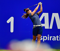 Hee Young Park, of Korea, plays her shot from the first tee during the third round of the ANA Inspiration at the Mission Hills Country Club in Palm Desert, California, USA. 3/31/18.<br /> <br /> Picture: Golffile | Bruce Sherwood<br /> <br /> <br />  All photo usage must carry mandatory copyright credit (&copy; Golffile | Bruce Sherwood)during the second round of the ANA Inspiration at the Mission Hills Country Club in Palm Desert, California, USA. 3/31/18.<br /> <br /> Picture: Golffile | Bruce Sherwood<br /> <br /> <br /> All photo usage must carry mandatory copyright credit (&copy; Golffile | Bruce Sherwood)