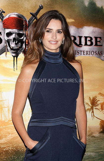 WWW.ACEPIXS.COM . . . . .  ..... . . . . US SALES ONLY . . . . .....May 18 2011, Madrid....Penelope Cruz at a photocall for 'Pirates Of The Carribean: On Stranger Tides' on May 18 2011in Madrid....Please byline: FAMOUS-ACE PICTURES... . . . .  ....Ace Pictures, Inc:  ..Tel: (212) 243-8787..e-mail: info@acepixs.com..web: http://www.acepixs.com