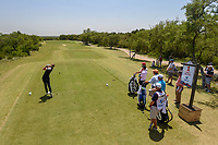 Brett Stegmaier (USA) watches his tee shot on 1 during Round 1 of the Valero Texas Open, AT&amp;T Oaks Course, TPC San Antonio, San Antonio, Texas, USA. 4/19/2018.<br /> Picture: Golffile | Ken Murray<br /> <br /> <br /> All photo usage must carry mandatory copyright credit (&copy; Golffile | Ken Murray)
