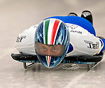 15 December 2006: Costanza Zanoletti, from Italy, starts her run at the FIBT Women's World Cup Skeleton Competition at the Olympic Sports Complex on Mount Van Hoevenburg  in Lake Placid, New York, USA. &amp;#xA;&amp;#xA;Mandatory Photo credit: Ed Wolfstein Photo<br />