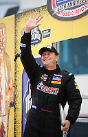 Sept. 16, 2011; Concord, NC, USA: NHRA top fuel dragster driver David Grubnic during qualifying for the O'Reilly Auto Parts Nationals at zMax Dragway. Mandatory Credit: Mark J. Rebilas-US PRESSWIRE