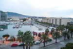 View over harbour and city centre, Melilla autonomous city state Spanish territory in north Africa, Spain