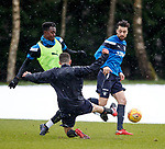 Joe Dodoo and Russell Martin tackled by Jason Holt