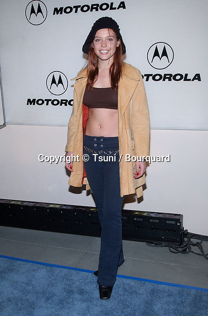 Agnes Bruckner arriving at the Motorola 3rd annual party, Toys for Tots at the Highland at Highland and Hollywood in Los Angeles. December 6, 2001. BrucknerAgnes05.JPG