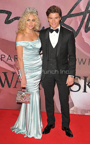 Pixie Lott and Oliver Cheshire at the Fashion Awards 2016, Royal Albert Hall, Kensington Gore, London, England, UK, on Monday 05 December 2016. <br /> CAP/CAN<br /> ©CAN/Capital Pictures /MediaPunch ***NORTH AND SOUTH AMERICAS ONLY***