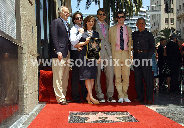 **ALL ROUND PICTURES FROM SOLARPIX.COM**.**SYNDICATION RIGHTS FOR UK, SPAIN, PORTUGAL, AUSTRALIA, S.AFRICA & DUBAI (U.A.E) ONLY**.The Hollywood actress Susan Saint James Honoured With A Star On The Hollywood Walk OF Fame on 1645 Vine Street in Hollywood California in the USA. .This pic:Dick Ebersol, Susan Saint James, sons and Ron Meyer.JOB REF:6622-PHZ/Albert.L.Ortega    DATE:11_06_08 .**MUST CREDIT SOLARPIX.COM OR DOUBLE FEE WILL BE CHARGED* *UNDER NO CIRCUMSTANCES IS THIS IMAGE TO BE REPRODUCED FOR ANY ONLINE EDITION WITHOUT PRIOR PERMISSION*