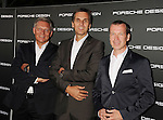 LOS ANGELES, CA - SEPTEMBER 04: Frank Angelkoetter, Roland Heilen and Juergen Gessler arrive at the Porsche Design 40th Anniversary Event at a private residence on September 4, 2012 in Los Angeles, California.