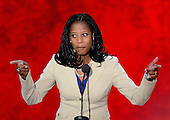 Mayor Mia Love of Saratoga Springs, Utah makes remarks at the 2012 Republican National Convention in Tampa Bay, Florida on Tuesday, August 28, 2012.  .Credit: Ron Sachs / CNP.(RESTRICTION: NO New York or New Jersey Newspapers or newspapers within a 75 mile radius of New York City)