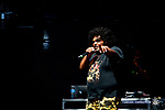 Michael Christmas performs on the Franklin Mountain Stage at the 2017 Neon Desert Muisc Festival, May 27, 2017 in El Paso Texas