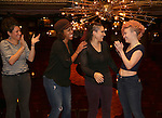 Rachel Chavkin, Erica Dorfler, Katrina Yaukey and Palona Garcia-Lee  during the Broadway Opening Night Actors' Equity Gypsy Robe Ceremony honoring Katrina Yaukey  for  'Natasha, Pierre & The Great Comet Of 1812' at The Imperial Theatre on November 14, 2016 in New York City.