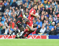 Wales's Adam Thomas is tackled by Kenya's Dennis Onkeo Ombachi<br /> <br /> Kenya Vs Wales - men's placing 5-8 match<br /> <br /> Photographer Chris Vaughan/CameraSport<br /> <br /> 20th Commonwealth Games - Day 4 - Sunday 27th July 2014 - Rugby Sevens - Ibrox Stadium - Glasgow - UK<br /> <br /> © CameraSport - 43 Linden Ave. Countesthorpe. Leicester. England. LE8 5PG - Tel: +44 (0) 116 277 4147 - admin@camerasport.com - www.camerasport.com